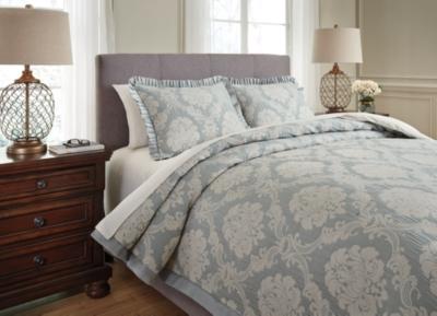 Joisse 3-Piece Queen Comforter Set by Ashley HomeStore, Sage