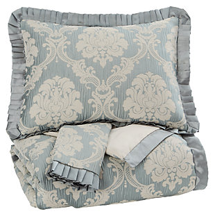 Joisse 3-Piece Queen Comforter Set, Sage, large