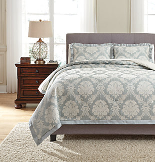 Joisse 3-Piece Queen Comforter Set, Sage, large