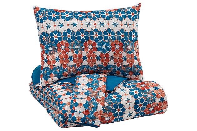 Jackalyn 3-Piece King Comforter Set, , large
