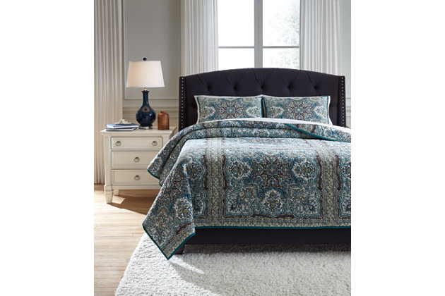 Myrtal 3-Piece Queen Quilt Set, , large