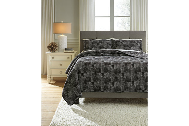 Jabesh 3-Piece Queen Quilt Set, , large