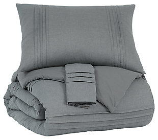 Mattias 3-Piece Queen Comforter Set, Gray, large