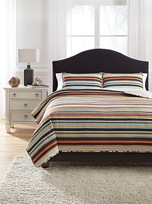 Wiley 3-Piece Queen Quilt Set, , rollover