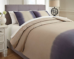 Brandon 3-Piece Queen Comforter Set, Indigo, rollover