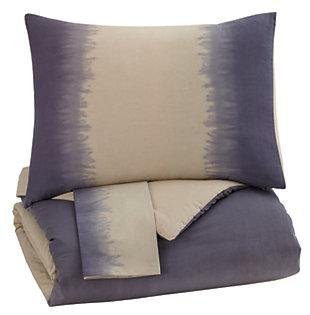 Brandon 3 Piece Queen Comforter Set, Indigo, ...