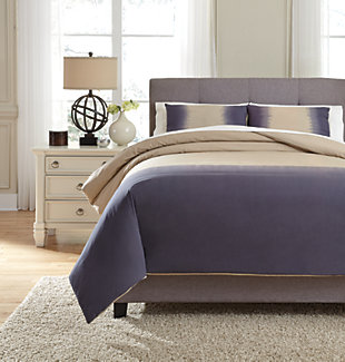 Brandon 3-Piece Queen Comforter Set, Indigo, large