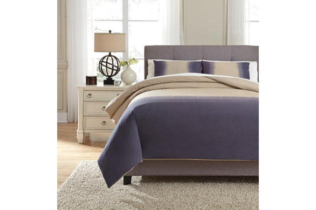 Brandon 3-Piece Queen Comforter Set, Indigo, large