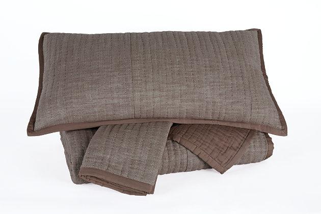 Stitched 3-Piece King Quilt Set, , large