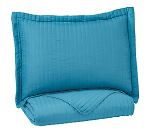 Raleda 2-Piece Twin Coverlet Set, Turquoise, large