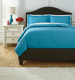 Raleda 3-Piece Queen Coverlet Set, Turquoise, large