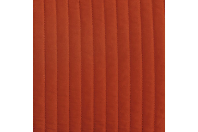 Raleda 3-Piece Queen Coverlet Set, Orange, large