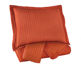 Great ... Raleda 3 Piece Queen Coverlet Set, Orange, Large ...