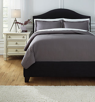 Raleda 3-Piece Queen Coverlet Set, Gray, large