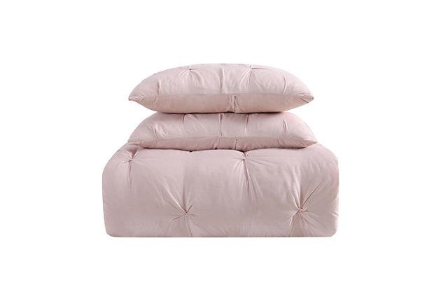 2 Piece Twin XL Comforter Set, Blush Pink, large