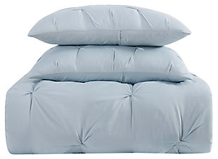 2 Piece Twin XL Comforter Set, Light Blue, large
