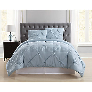 2 Piece Twin XL Comforter Set, Light Blue, rollover