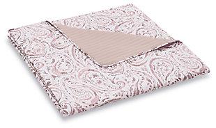 3 Piece King Quilt Set, Blush Pink, large