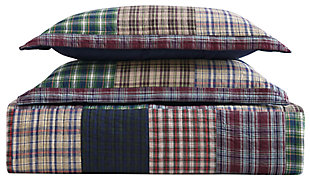 2 Piece Twin Quilt Set, Multi, large