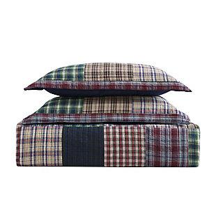 Cotton Twin Quilt Set, Multi, large
