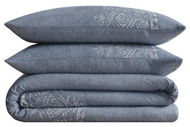 2 Piece Twin XL Comforter Set, Blue, large