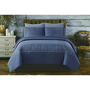 3 Piece King Comforter Set, , rollover