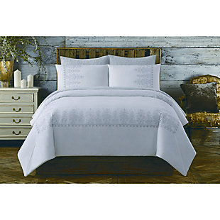 Cotton Full/Queen Duvet Set, White, large