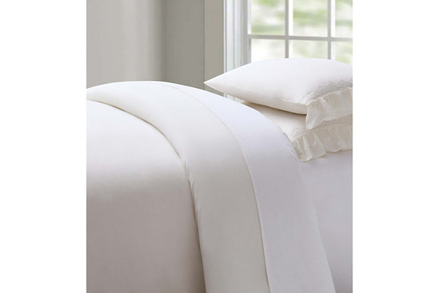 3 Piece Full/Queen Duvet Set, Ivory, large