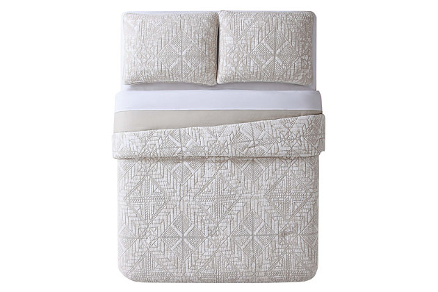 2 Piece Full/Queen Duvet Set, White, large