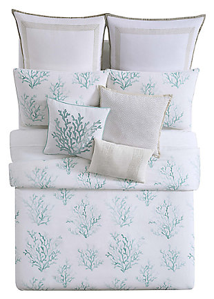 2 Piece Twin XL Comforter Set, Blue/White, large