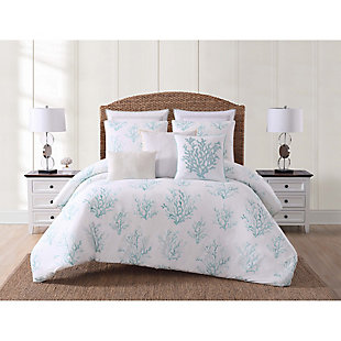 2 Piece Twin XL Comforter Set, Blue/White, rollover