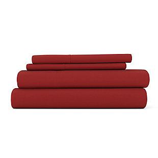 4 Piece Premium Ultra Soft California King Bed Sheet Set, Burgundy, large
