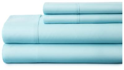 4 Piece Premium Ultra Soft California King Bed Sheet Set, Aqua, large
