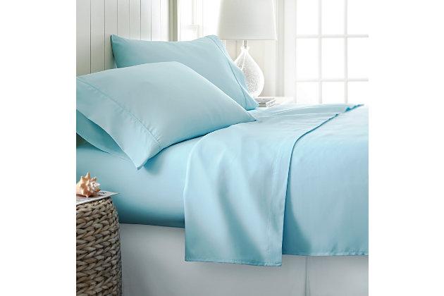 3 Piece Premium Ultra Soft Twin Sheet Set, Aqua, large