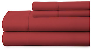 4 Piece Premium Ultra Soft Twin Bed Sheet Set, Burgundy, large