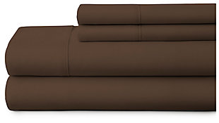 4 Piece Premium Ultra Soft Twin Bed Sheet Set, Chocolate, large