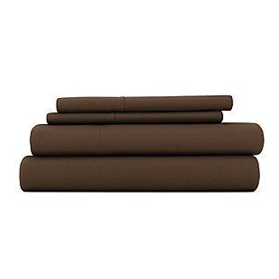 3 Piece Premium Ultra Soft Twin Sheet Set, Chocolate, large