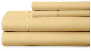 3 Piece Premium Ultra Soft Twin Sheet Set, Gold, large