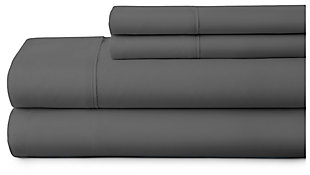 4 Piece Premium Ultra Soft Twin Bed Sheet Set, Gray, large