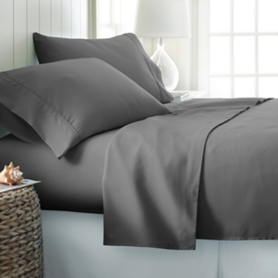3 Piece Premium Ultra Soft Twin Sheet Set, Gray, large