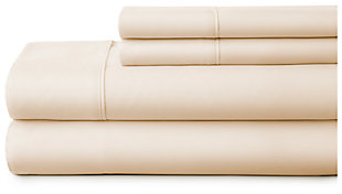 4 Piece Premium Ultra Soft Twin Bed Sheet Set, Ivory, large