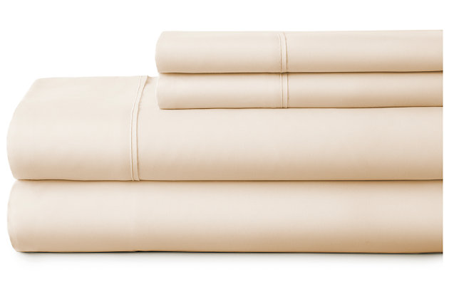 3 Piece Premium Ultra Soft Twin Bed Sheet Set, Ivory, large