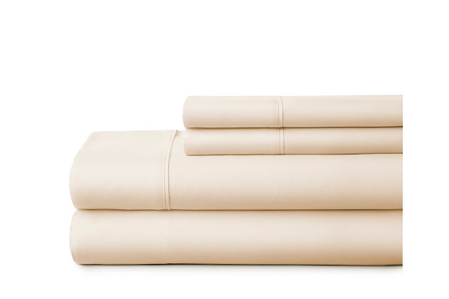 3 Piece Premium Ultra Soft Twin Sheet Set, Ivory, large