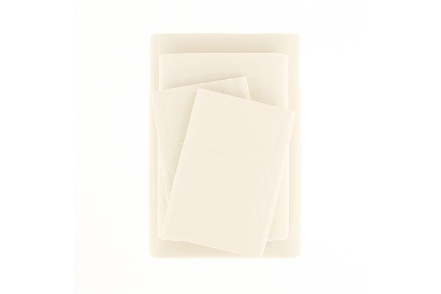 3 Piece Premium Ultra Soft Twin Sheet Set, Ivory, large