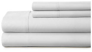 4 Piece Premium Ultra Soft Twin Bed Sheet Set, Light Gray, large