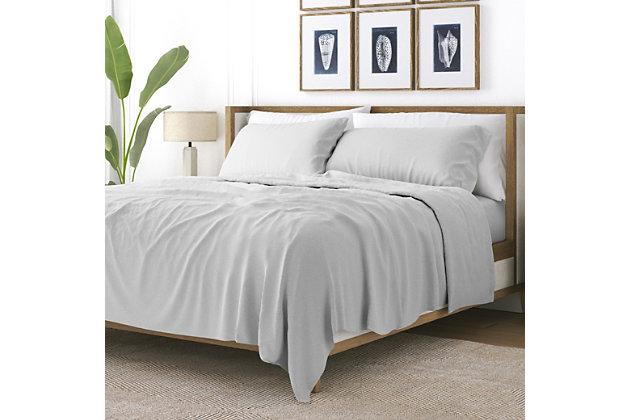 3 Piece Premium Ultra Soft Twin Sheet Set, Light Gray, large