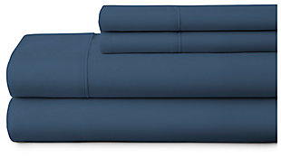 4 Piece Premium Ultra Soft Twin Bed Sheet Set, Navy, large