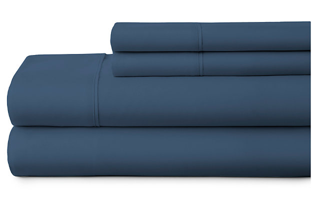 4 Piece Premium Ultra Soft Full Bed Sheet Set, Navy, large