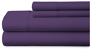 4 Piece Premium Ultra Soft Twin Bed Sheet Set, Purple, large
