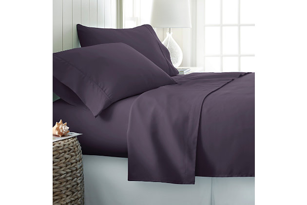 3 Piece Premium Ultra Soft Twin Sheet Set, Purple, large